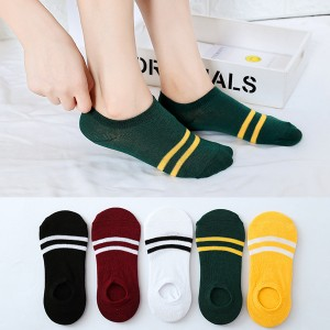 Striped Colorful Five Pieces Socks Set