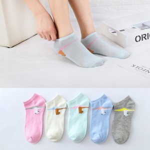 Five Pieces Light Contrast Casual Socks Set
