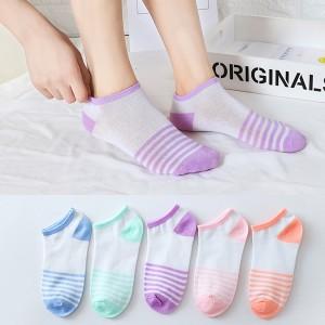 Striped Multicolor Five Pieces Printed Socks Set