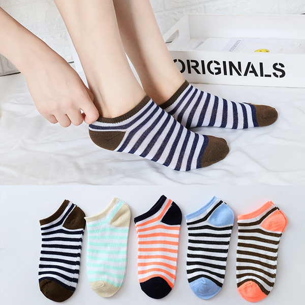 Lines Printed Multi Contrast Socks Set