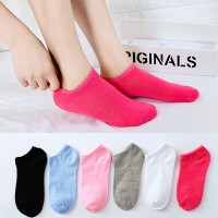 Six Pieces Plain Colorful Socks Pair Set