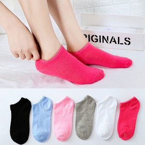 Six Pieces Plain Colorful Socks Pair Set