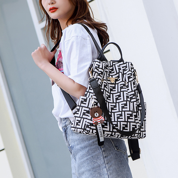 Textured Canvas Casual Summer Backpacks