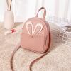 Rabbit Ear Round PU Mini Shoulder Bags - Pink