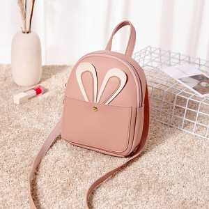 Rabbit Ear Round PU Mini Shoulder Bags - Pink
