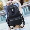 Zipper Closure Printed Casual Backpacks - Black