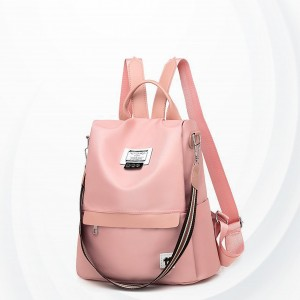 Canvas Casual Wide Space Backpack - Pink