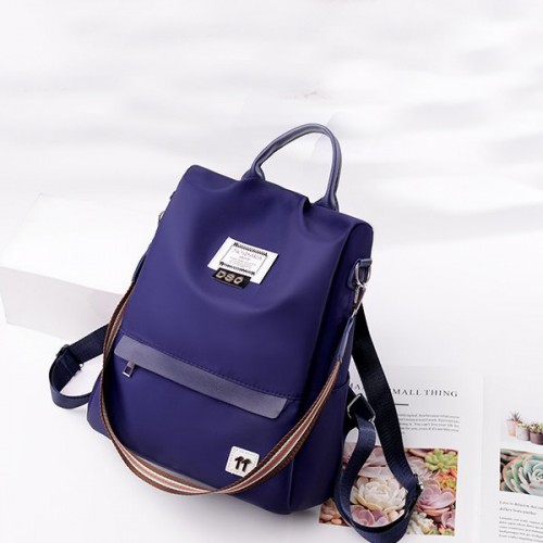 Canvas Casual Wide Space Backpack - Blue