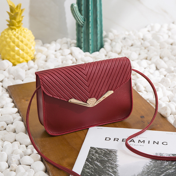 Envelope Style Simple Formal Messenger Bags - Burgundy
