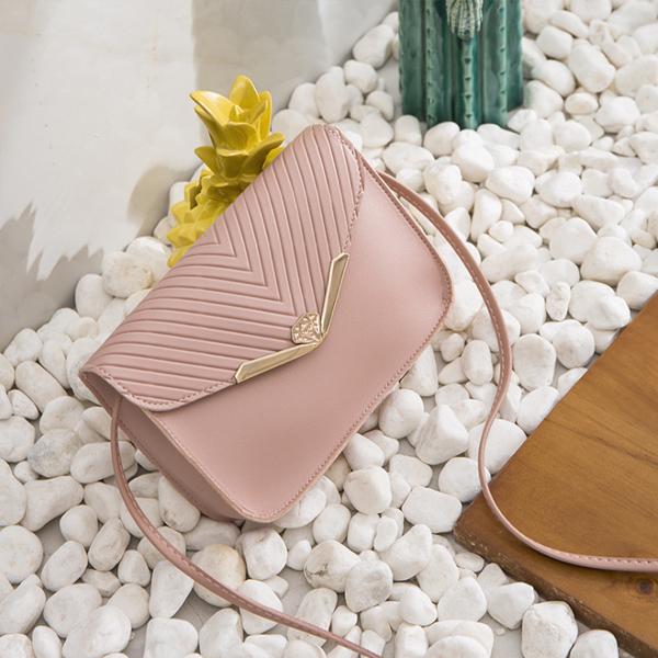 Envelope Style Simple Formal Messenger Bags - Pink