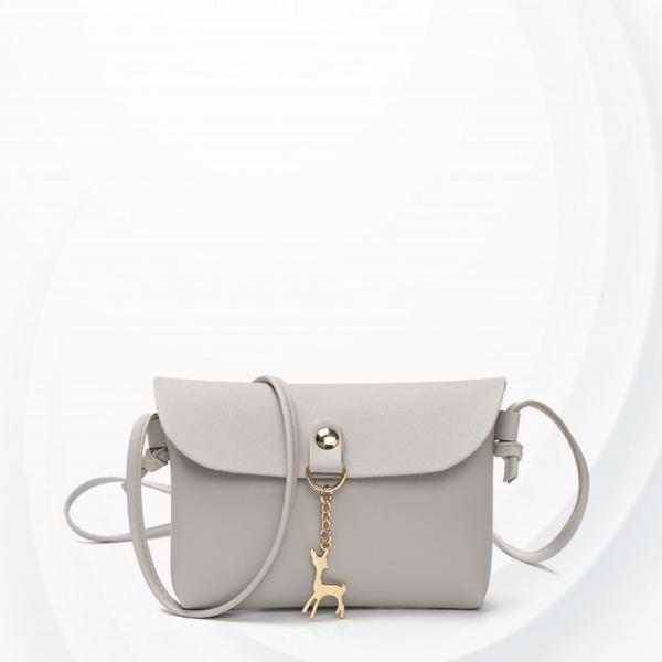 Deer Hanging Mini Shoulder Bag - Grey