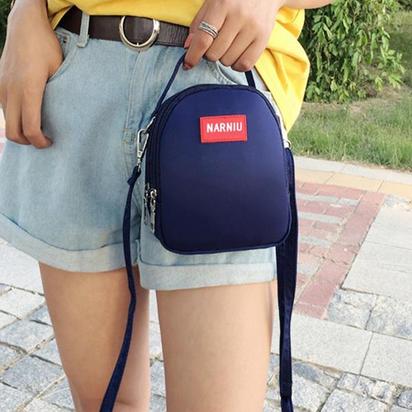 Round Simple Shoulder Strapped Traveller Bags - Dark Blue