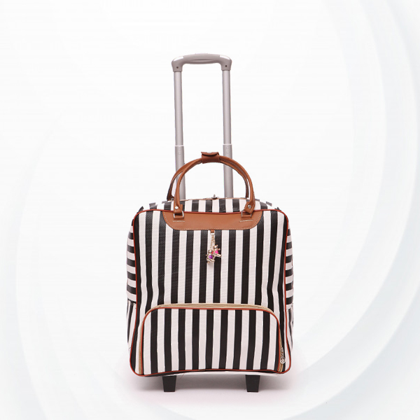 Striped Wide Space Airport Traveller Hand Carry Suitcase