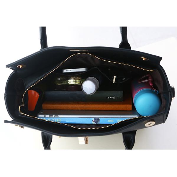Printed Design Women Handbags Set 3 Piece Bags Queen Girl