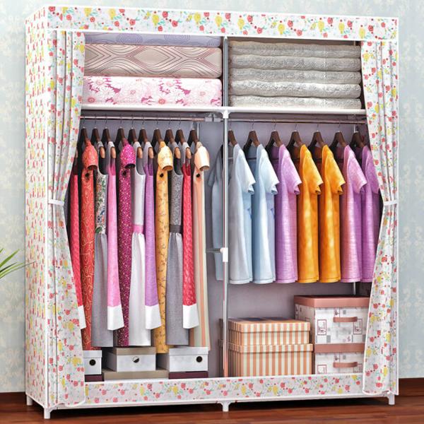 Multi Purpose Storage Wardrobe - Floral