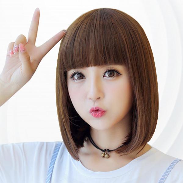 Cute Straight Style Fake High Quality Hair Wigs