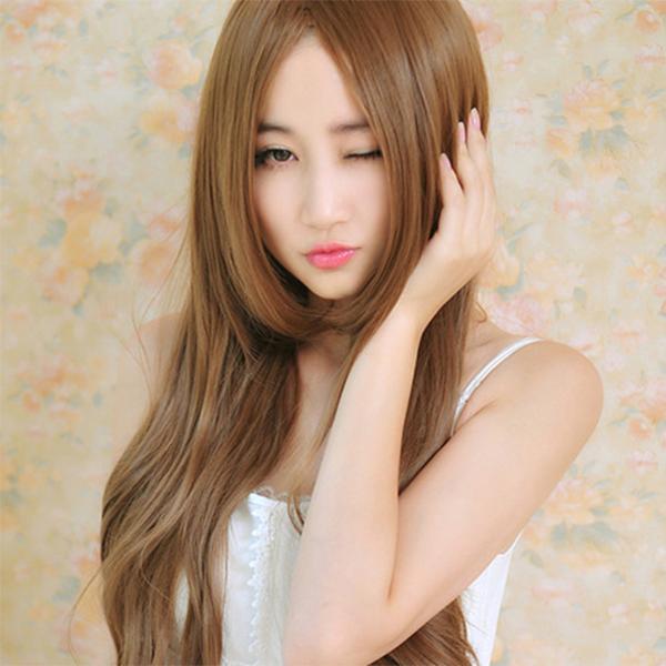 Straight Hairs Long Length Fake Hair Wig - Brown