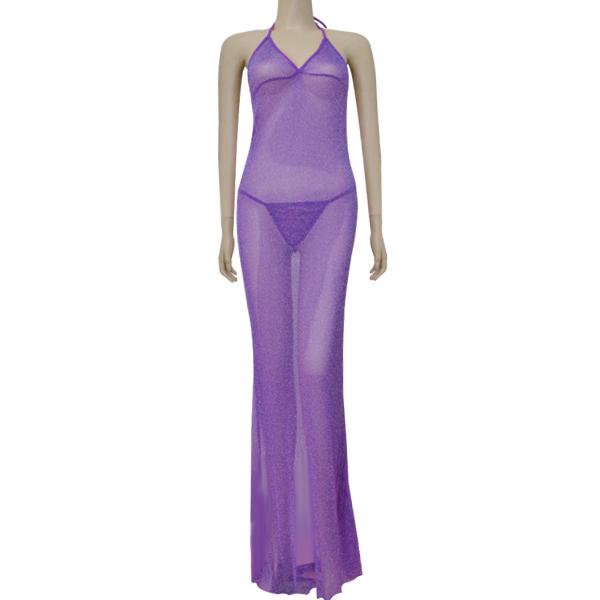 Beautiful Tempting Transparent Purple Lingerie For Women