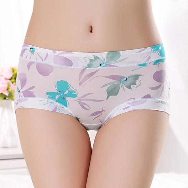 Printed Casual Comfort Underwear - Multicolor Floral