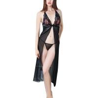 Long Thong Women Sexy Look Lace Net Yarn Fabric Lingerie