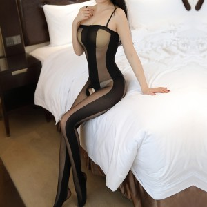 Transparent Strap Shoulder Sexy Wear Stockings