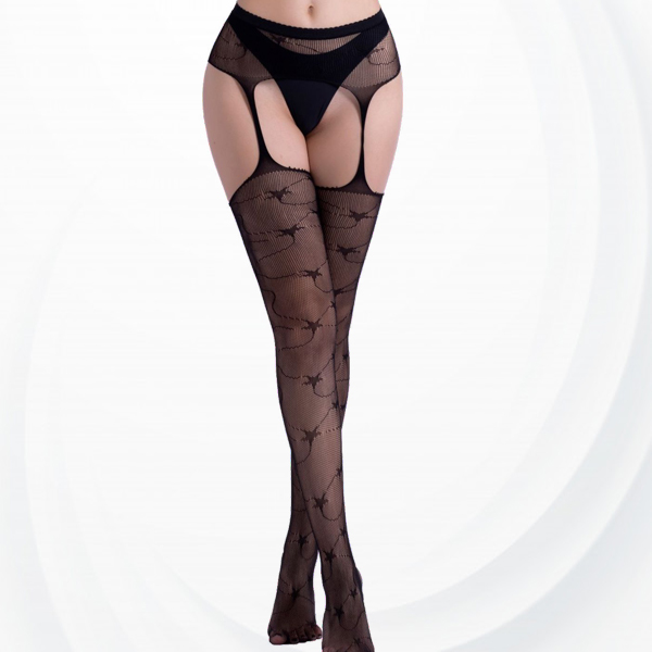Stars Pattern Transparent Net Leg Stockings