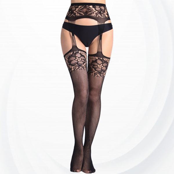 Hollow Transparent Net Lace Leg Stockings