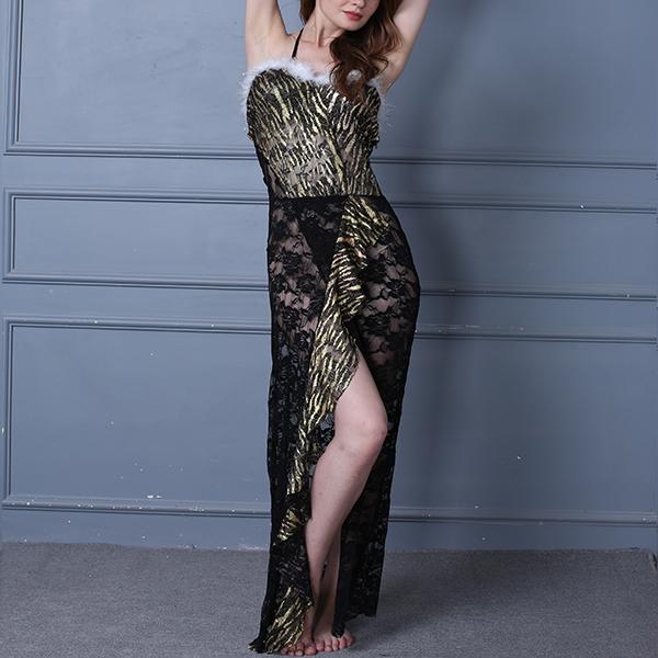 Floral Lace Textured Black Contrast Lingerie