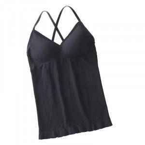 Padded Cross Strap Inner Wear Bust Control Top - Black
