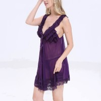 Multilayered Purple Lace Sexy Nightwear Lingerie