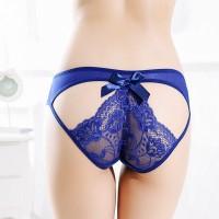 Lace Butterfly Ribbon Night Wear Panty - Blue