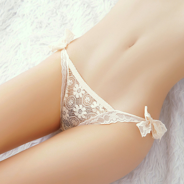 Floral Pattern Lace Knotted Night Underwear - Khaki