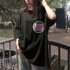 Baggy Casual Wear O Neck T-Shirt - Black