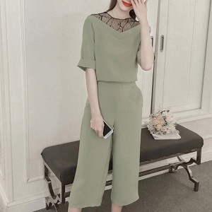 Summer Wear Two Piece Formal Office Suit - Green