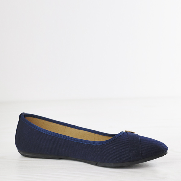 Bow Crystal Patch Canvas Shoes - Blue