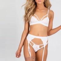 Romantic Nights Special Occasion Caged Bikini Set - White