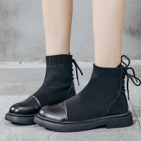 Rubber Base Vintage Boots Style Laced Shoes