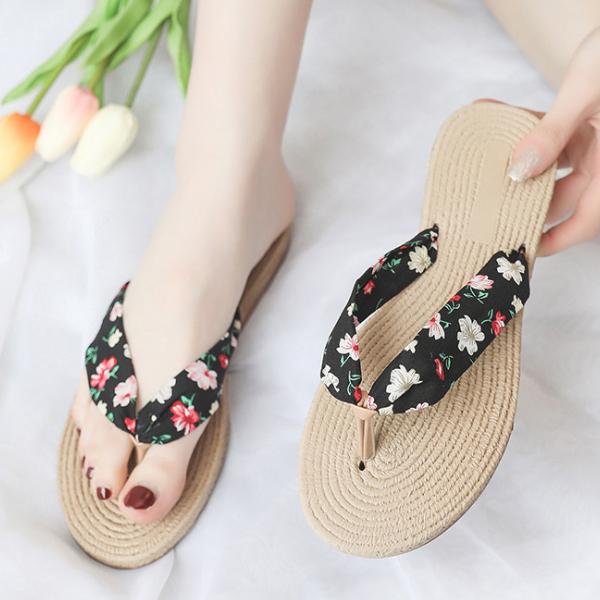 Floral Printed Summer Casual Wear Flip Flops