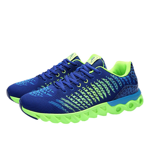 Unisex Soft Sneakers Sports Running Shoes Blue Green