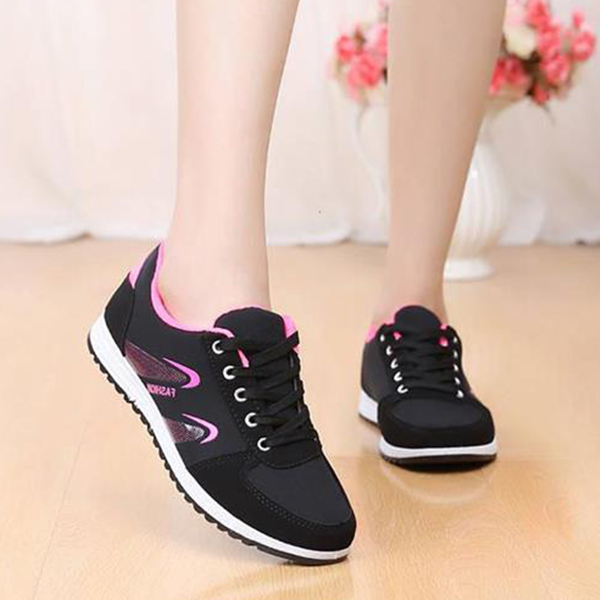 Casual Laced Light Sports Shoes - Multicolor