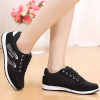 Casual Laced Light Sports Shoes - Black