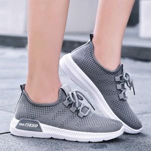 Canvas Sports Wear Flat Casual Sneakers - Grey