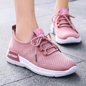 Canvas Sports Wear Flat Casual Sneakers - Pink