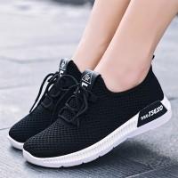 Canvas Sports Wear Flat Casual Sneakers - Black