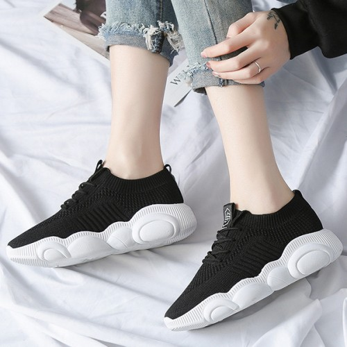 Branded Thick Rubber Base Sports Wear Gym Shoes - Black