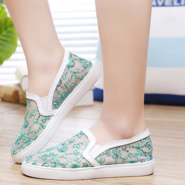 acf3ee3c188 Flat Korean Fashion Women Summer Shoes Green