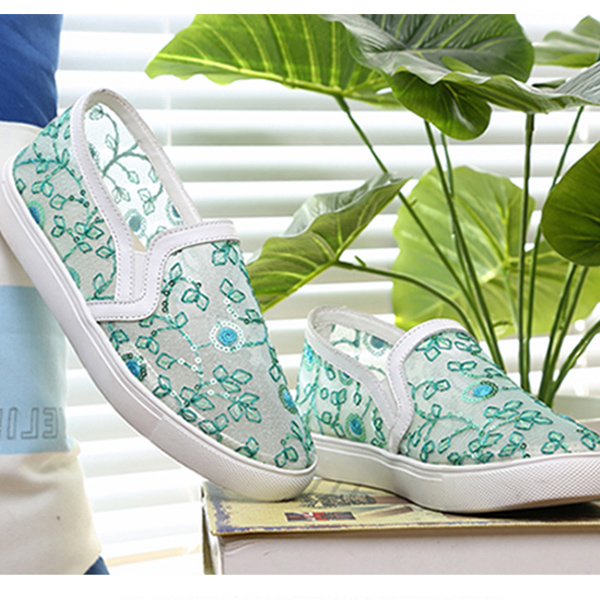 Flat Korean Fashion Women Summer Shoes Green