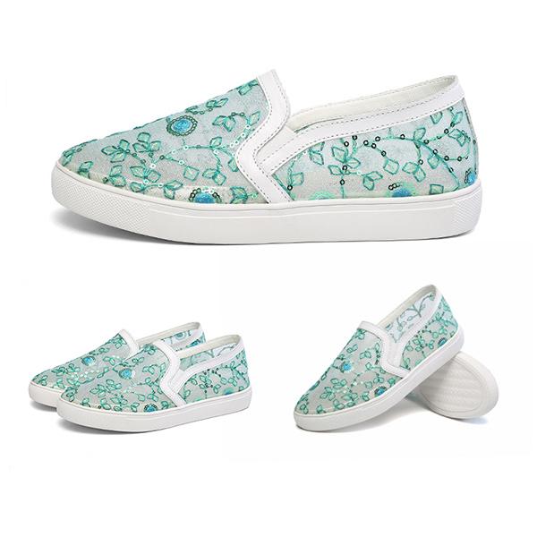 9eb2cfb6a8b Flat Korean Fashion Women Summer Shoes Green
