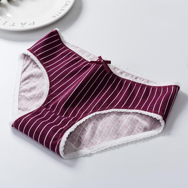 Soft Cotton Leak Proof Seamless Women Underwear - Wine Red