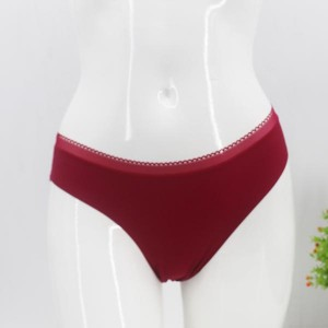 Solid Pattern Beach Wear Underwear - Red